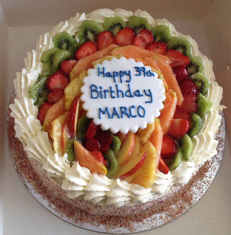 Mixed Fruit Gateau Vanilla Sponge Layered with Fresh Cream Arif
