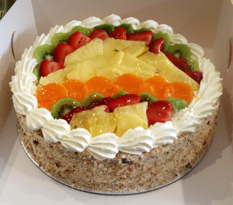 Mixed Fruit Gateau Vanilla Sponge Layered With Fresh Cream