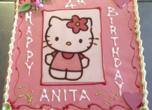 Buttercream character girls cake