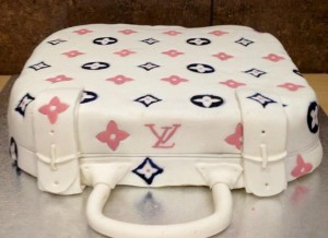 Louis Vuitton luggage cake