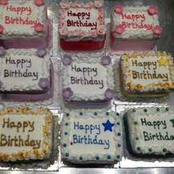 Mini birthday cakes