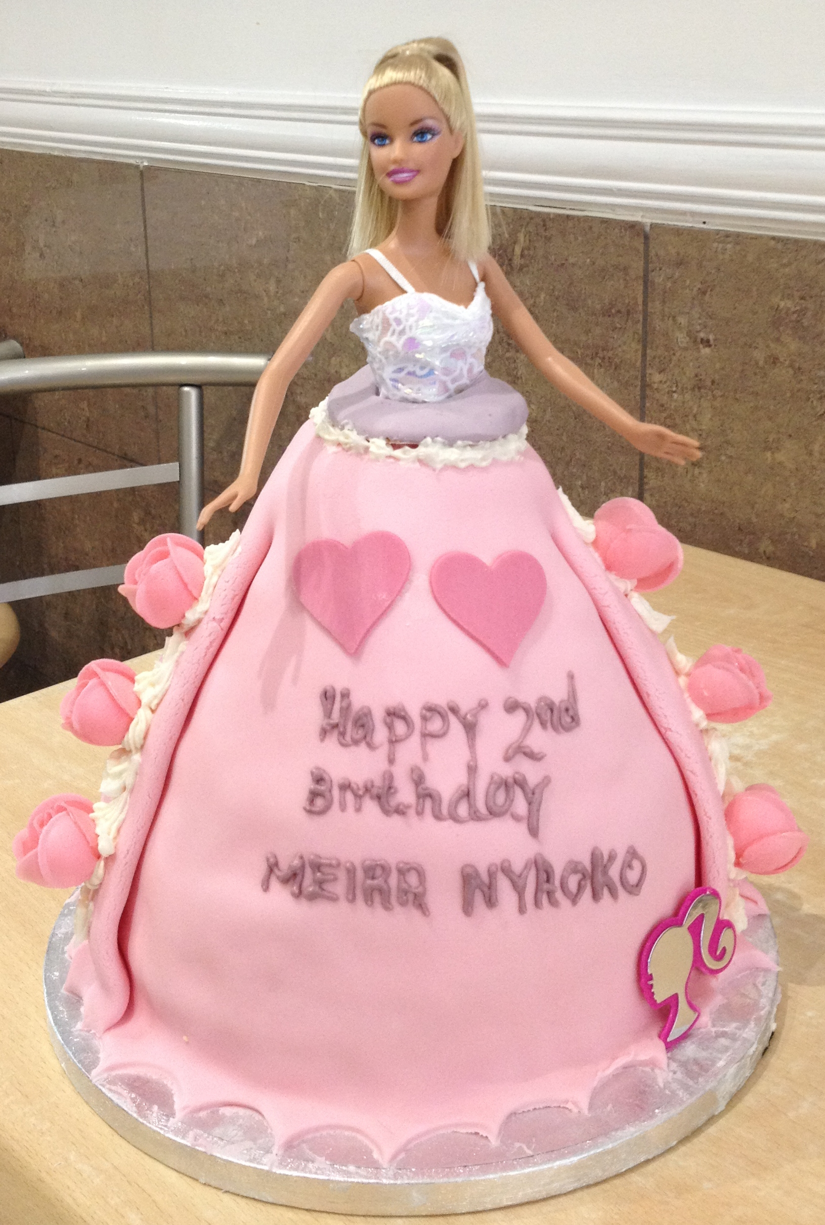 Barbie Doll Dress Cake Recipe
