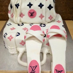 louis vuitton bag and shoes set cake